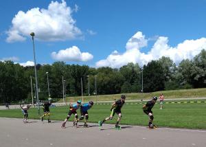 Wedstrijd inline-skaten